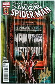 Amazing Spider-man #678 Signed Stan Lee Dan Slott Humberto Ramos Marvel comic book